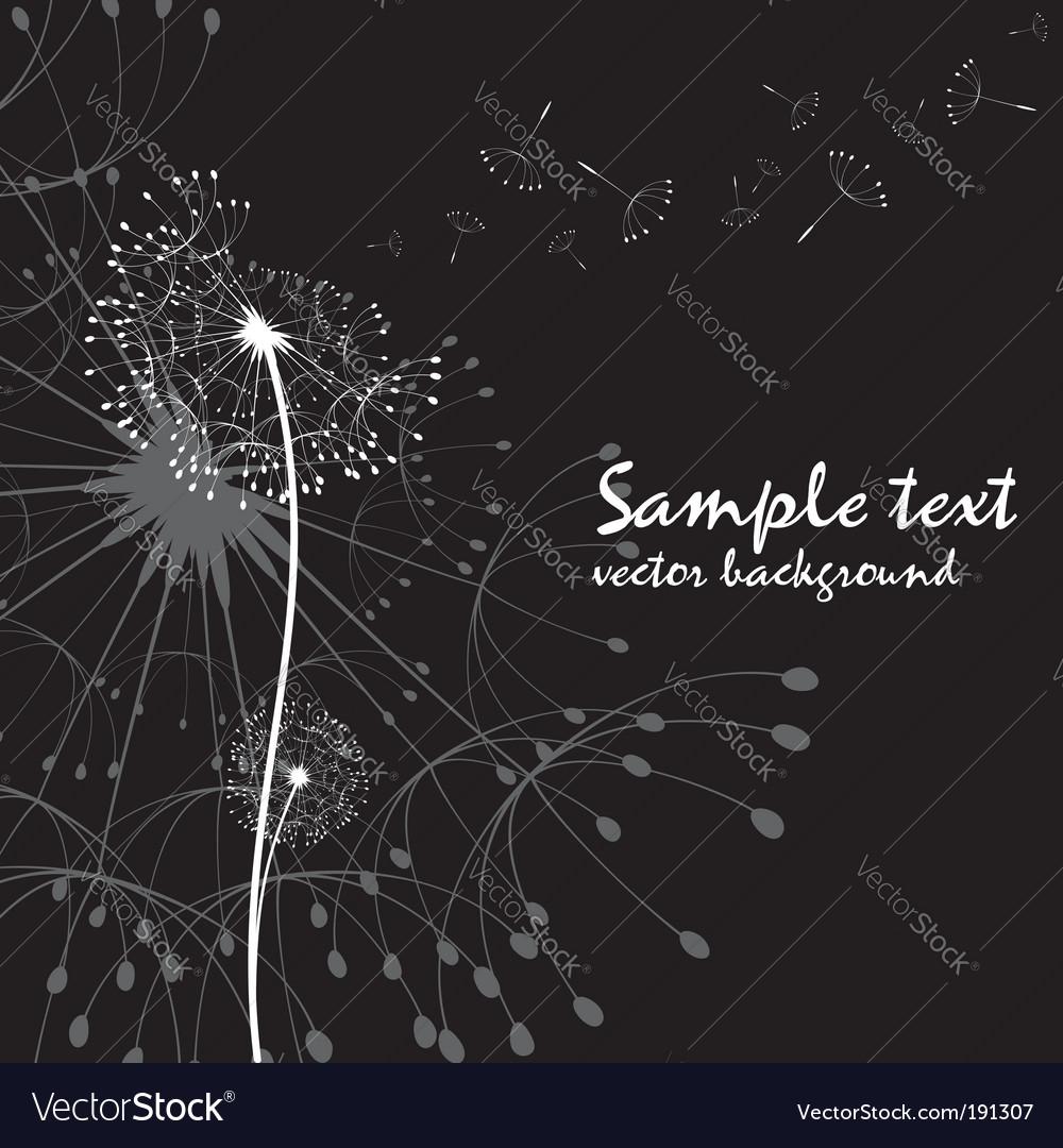 Abstract dandelion vector image