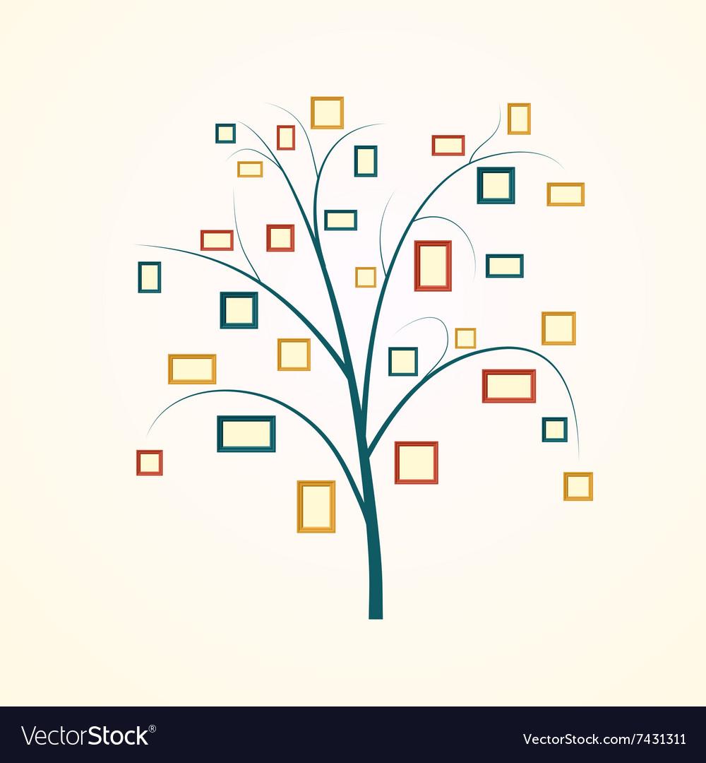 Family tree design vector image