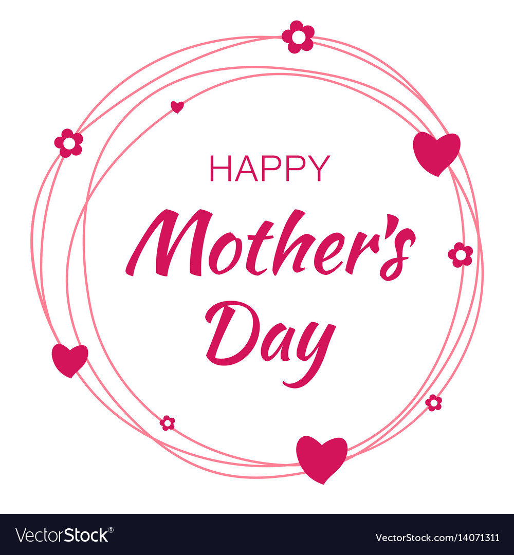 Happy mothers day card lettering background vector image