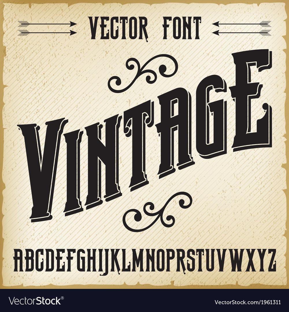 Vintage Alphabet Royalty Free Vector Image