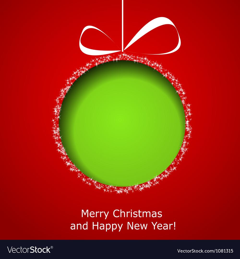 Abstract green Christmas ball vector image