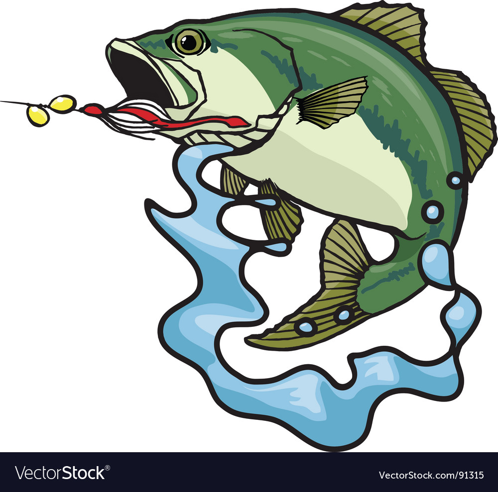 Fighting bass vector image