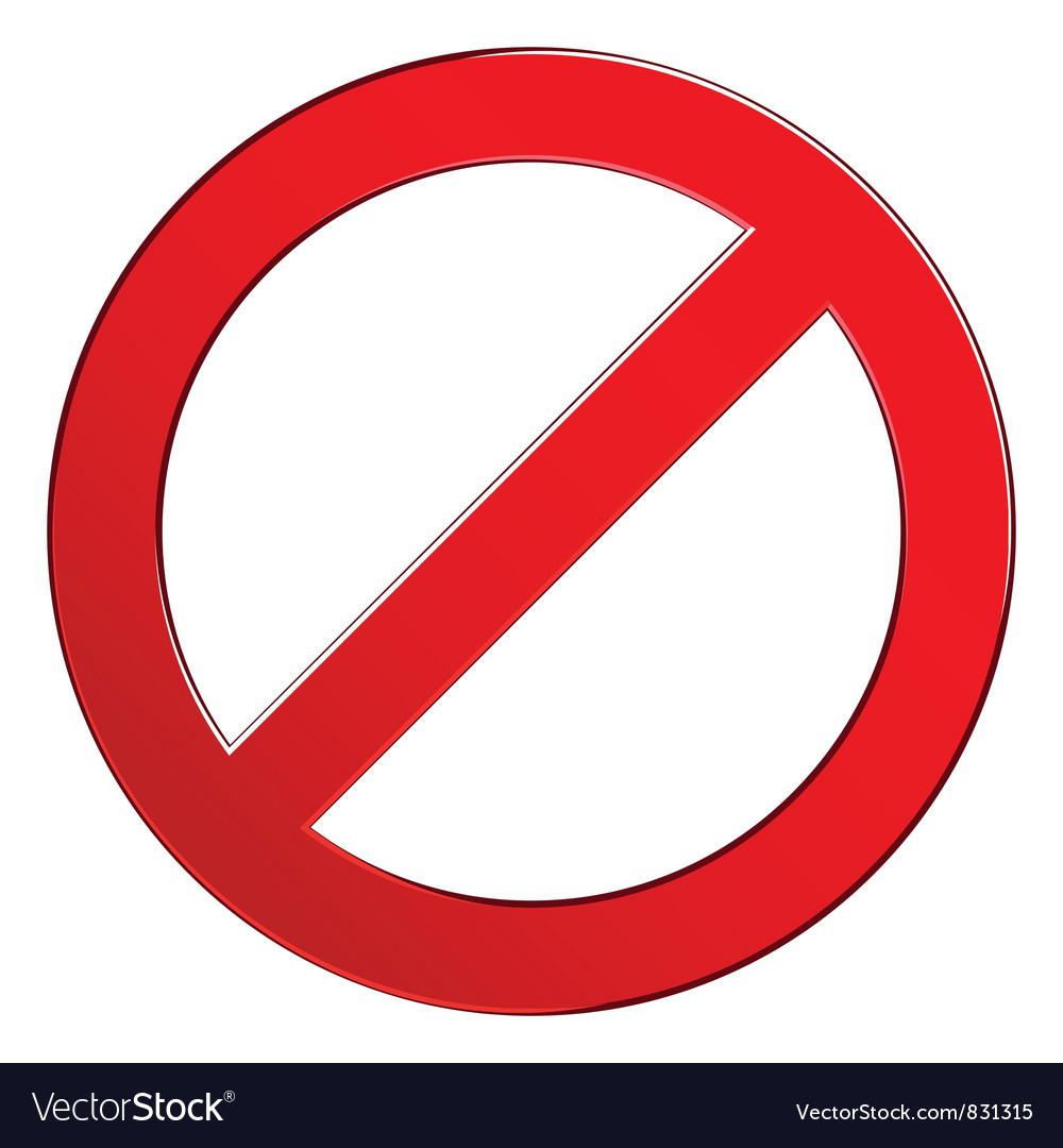 Sign forbidden empty vector image