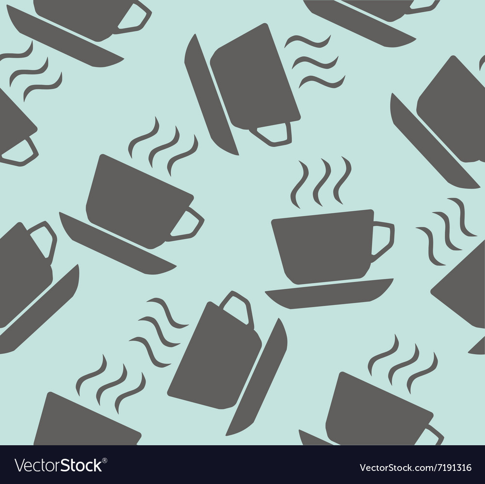 Cup coffee seamless vector image