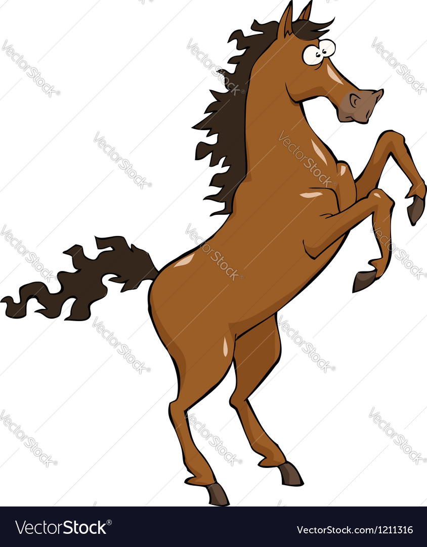 horse on hind legs royalty free vector image vectorstock