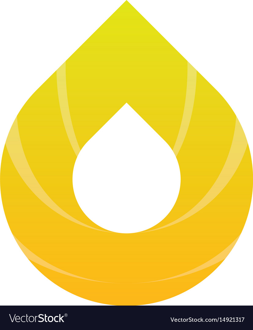 Abstract water drop logo image vector image