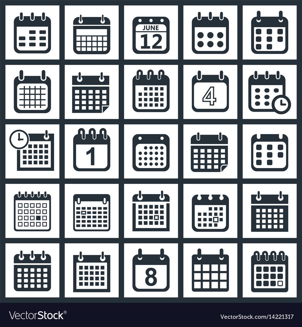 Calendar icons design vector image