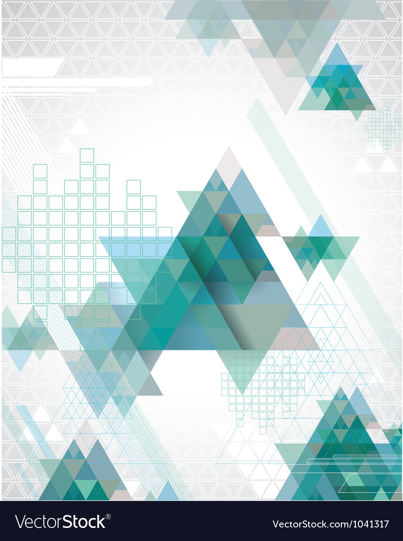 TechnoTriangles vector image