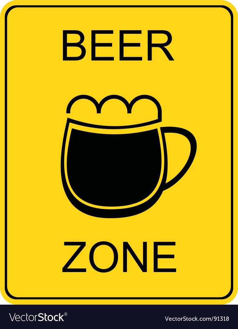 Beer zone sign vector image