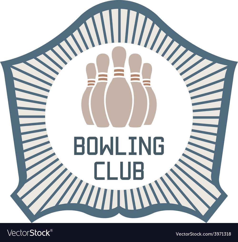 Bowling Club vector image