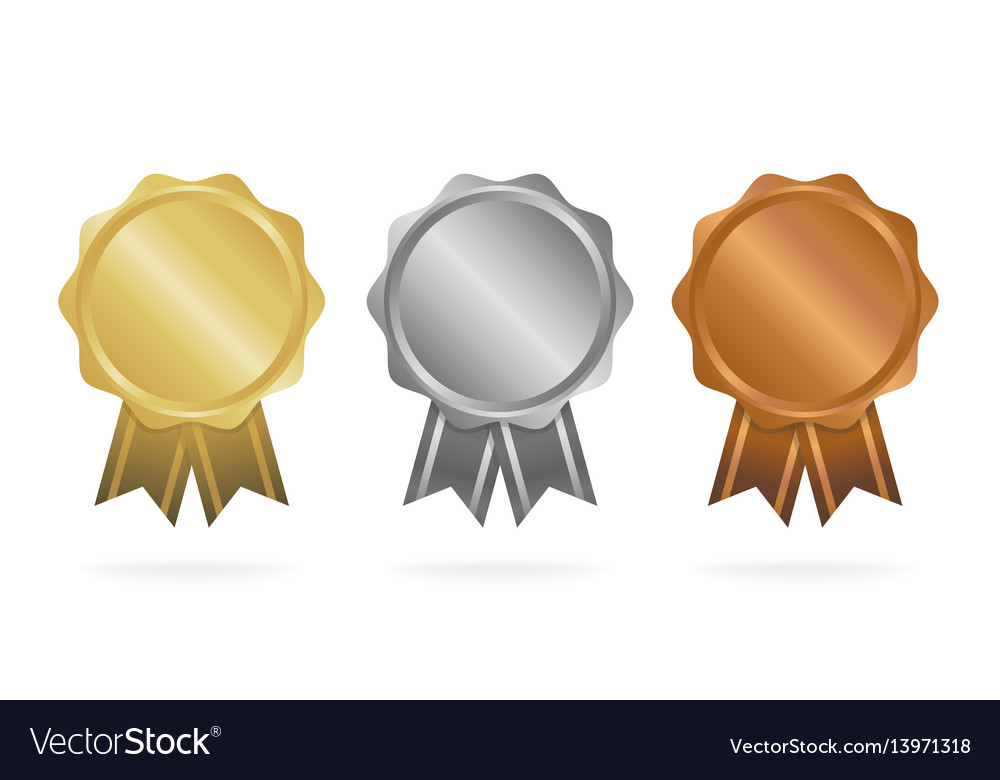 First place second place third place award vector image