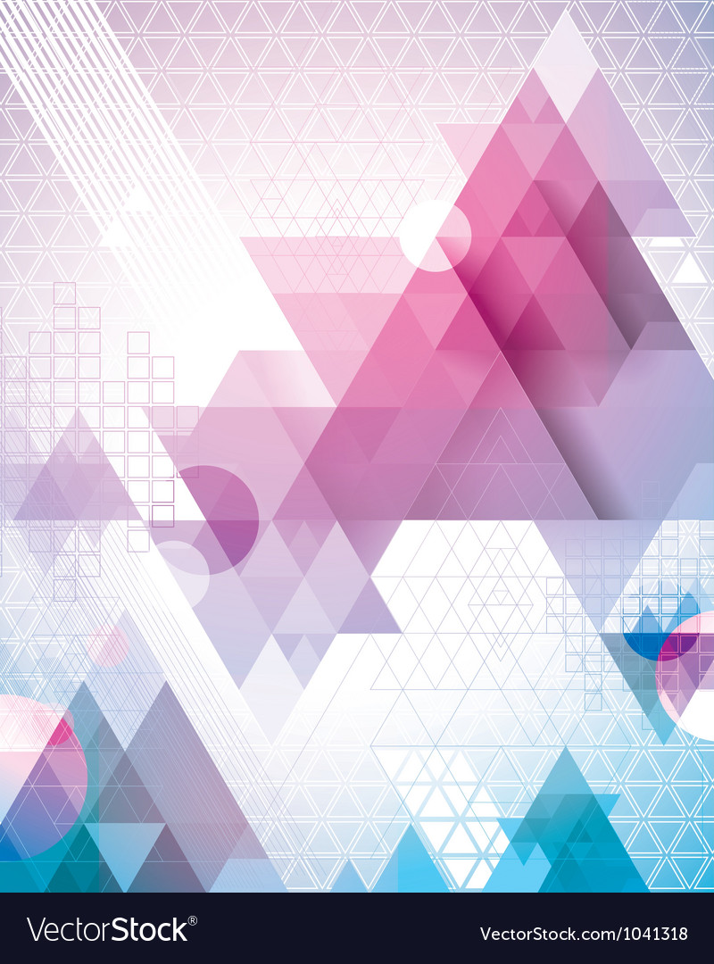 Techno Triangles Magenta vector image
