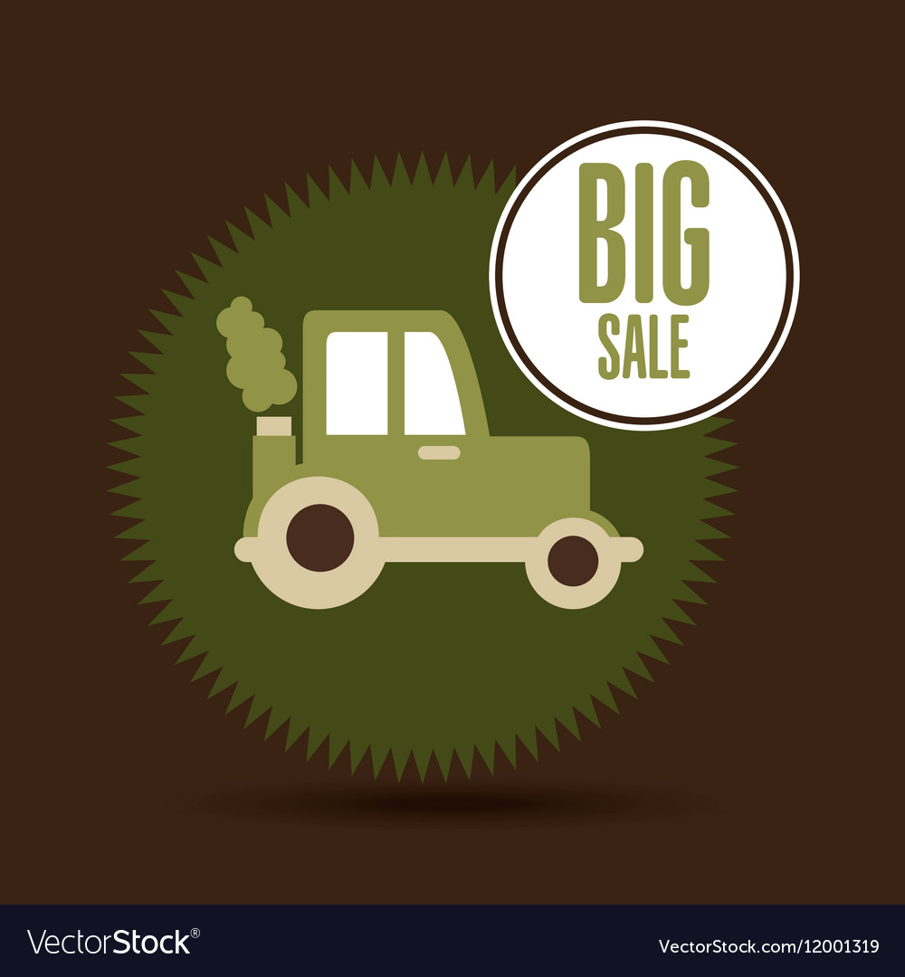 Big sale food healthy products farm vector image