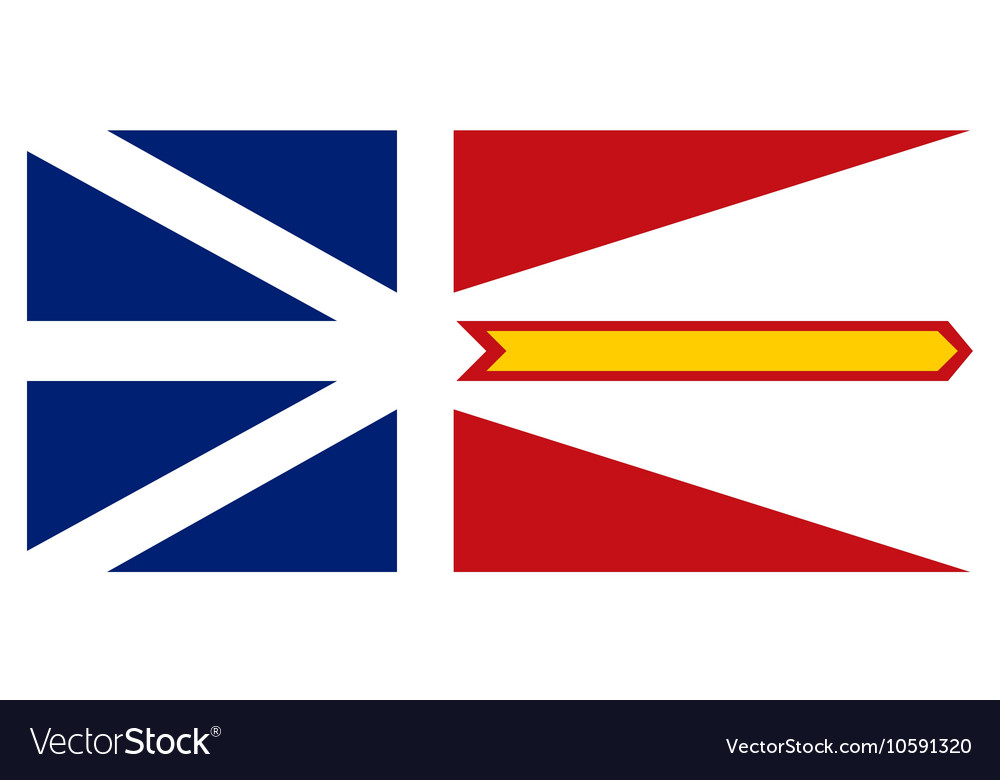 Newfoundland and Labrador flag correct proportions vector image