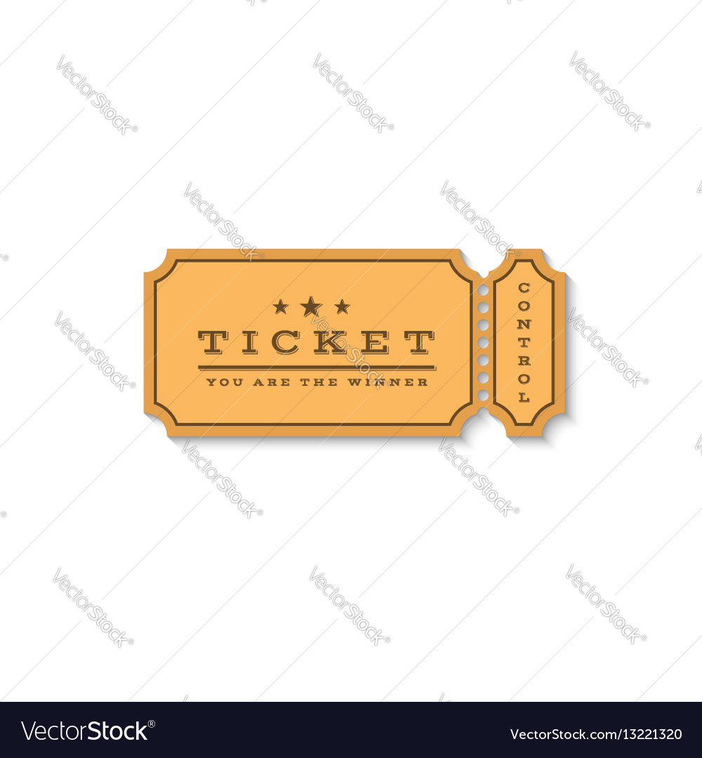 Paper ticket mockup logo cardboard coupon for the vector image