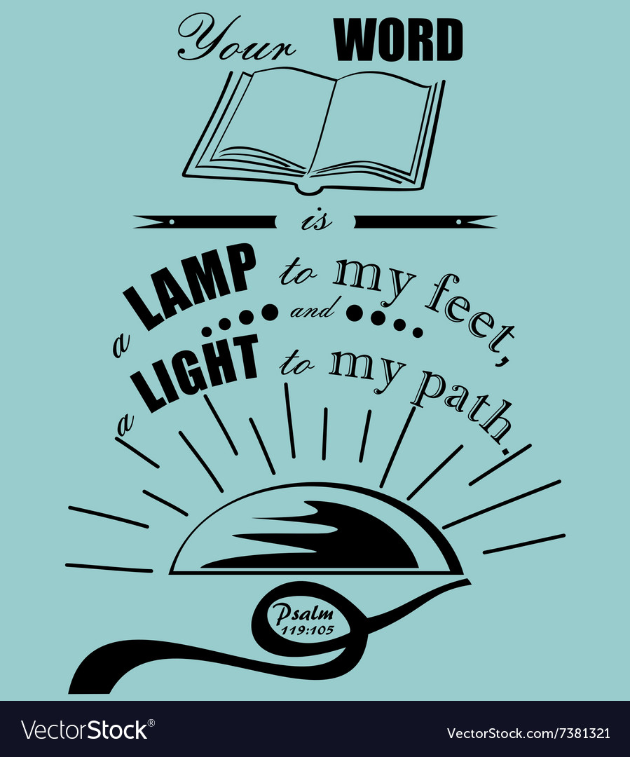 Bible verse Psalm 119 vector image