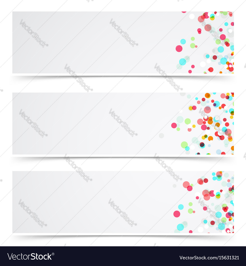 Colorful abstract splatter paint card collection vector image