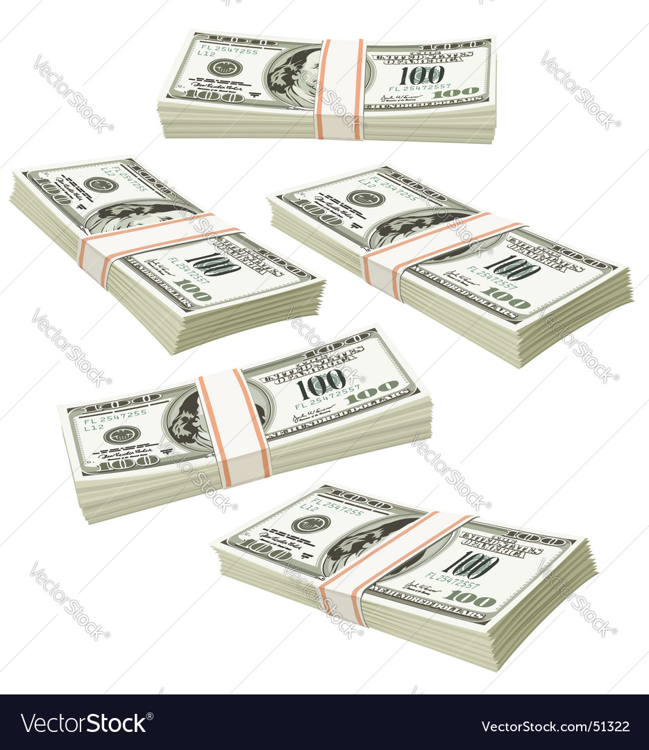 Us dollers vector image