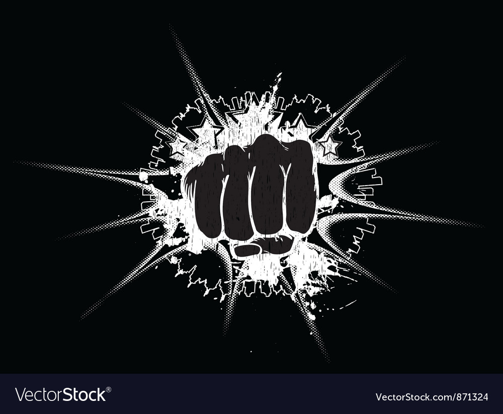 Urban background with punch Vector Image