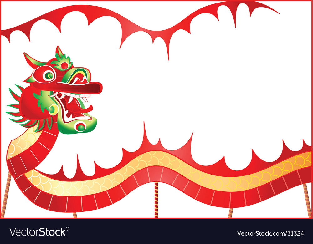 Chinese dancing dragon vector image