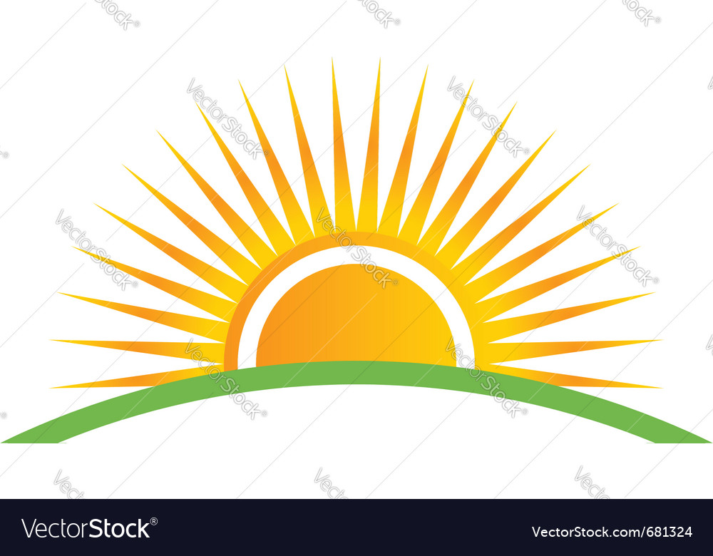 Sunset and horizon vector image
