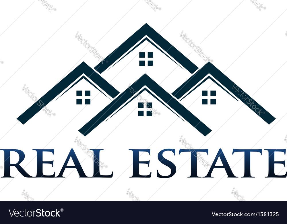 Houses apartments logo design element vector image