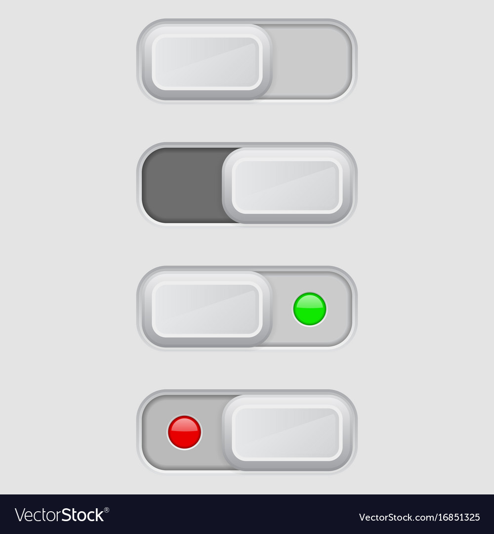Toggle switch set on and off buttons royalty free vector toggle switch set on and off buttons vector image biocorpaavc Images