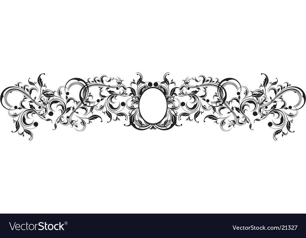 Florituras vector image