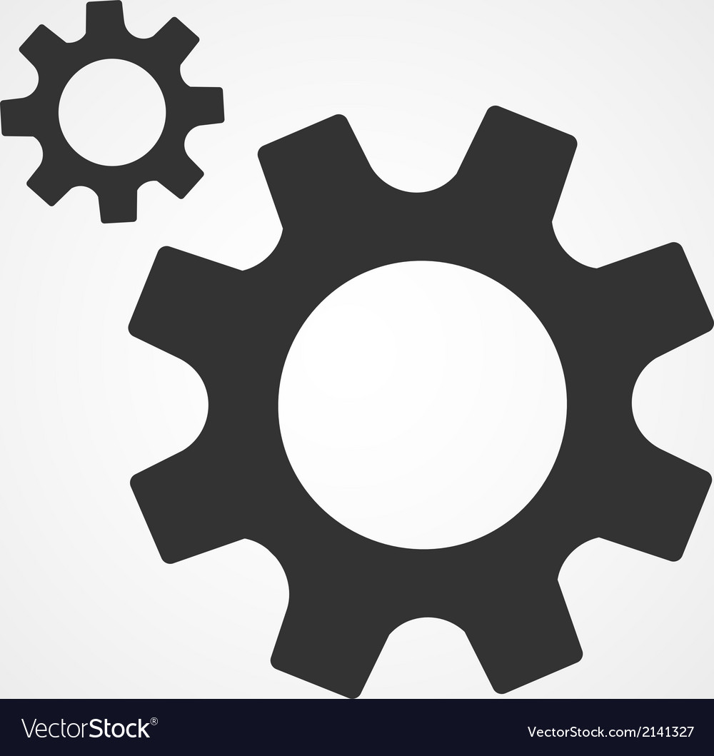 Gear icon flat design vector image