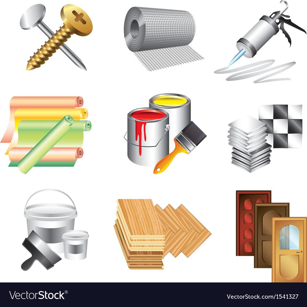 Icons buildingmaket vector image