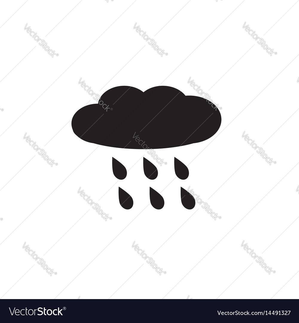 Rain rainy on white background rainy sign vector image