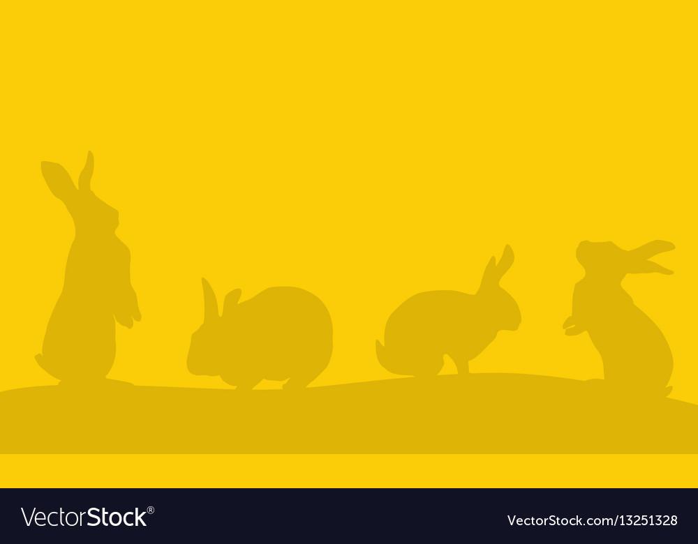 Background of easter bunny landscape vector image