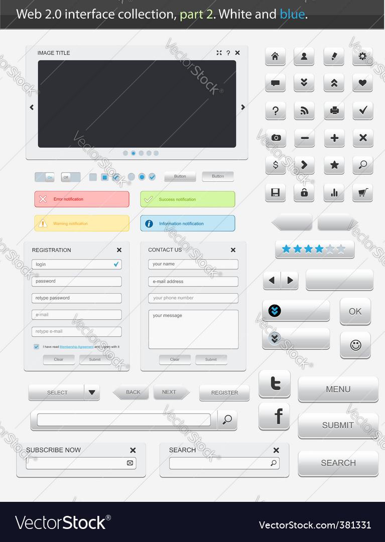 Web 20 interface part 2 vector image