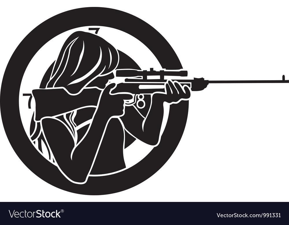 Target stencil vector image