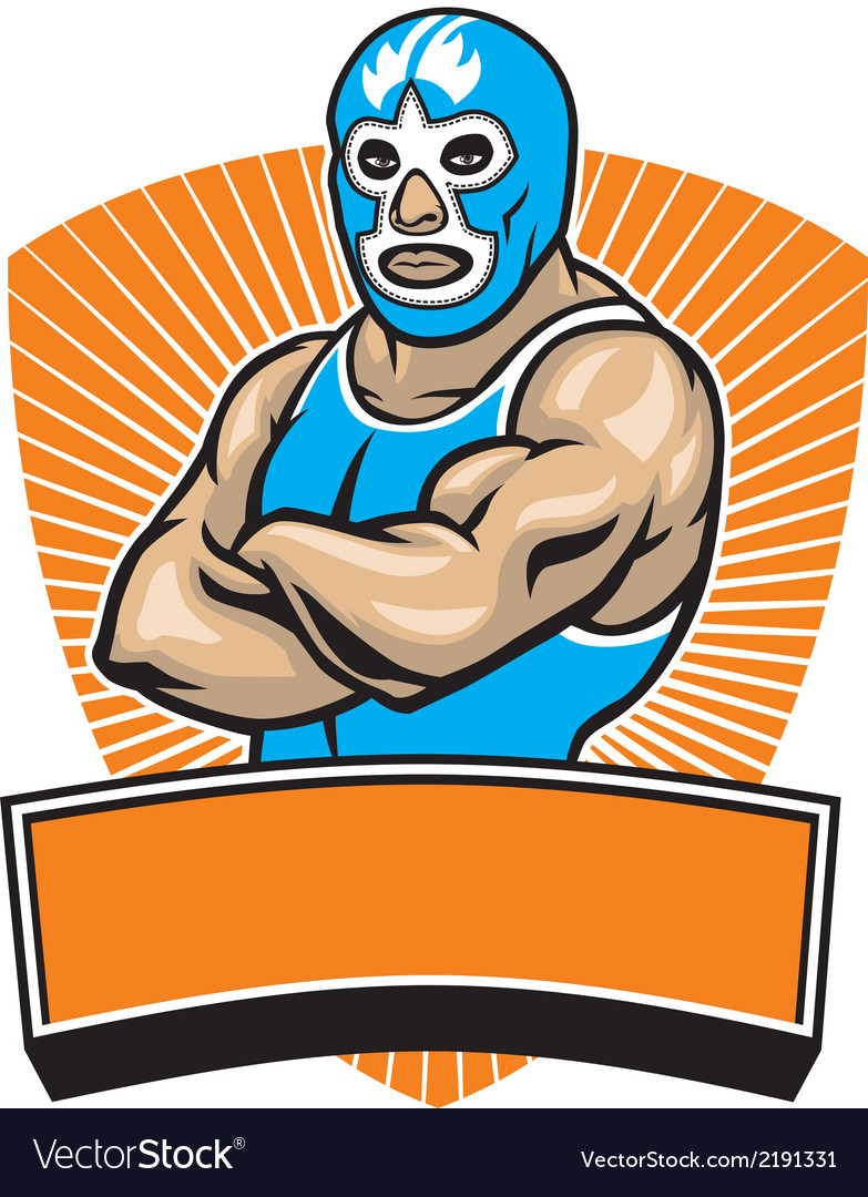 Mexican wrestler vector image