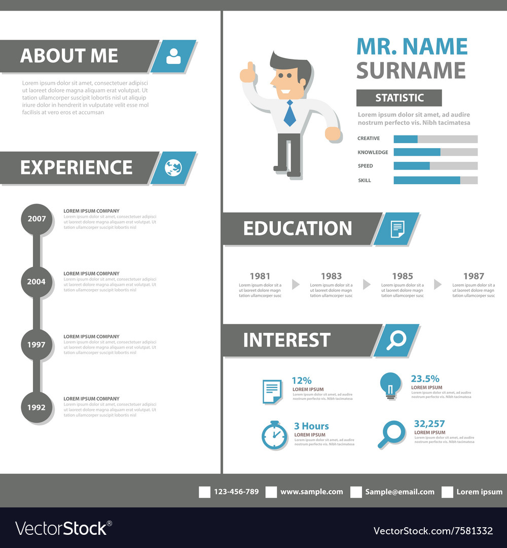 resume Smart Resume smart creative resume business profile cv vitae vector image