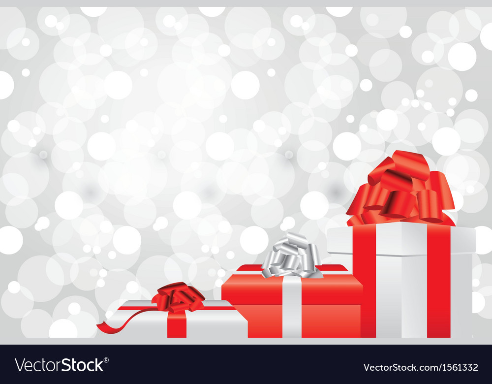 White Christmas Background Gifts Royalty Free Vector Image