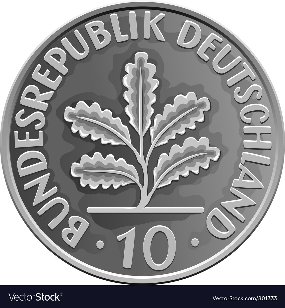 German 2 Dollar Coin vector image