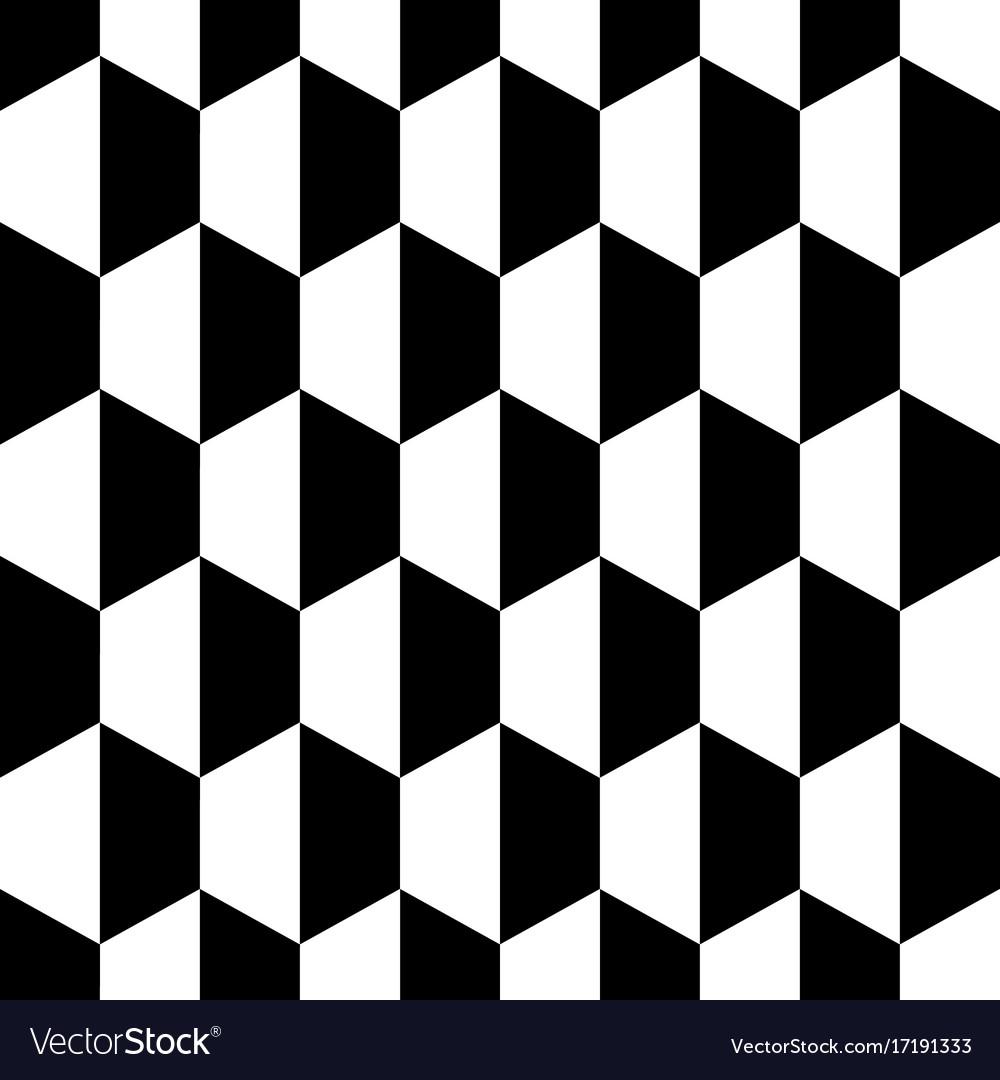 Black white honeycomb hexagon seamless background vector image