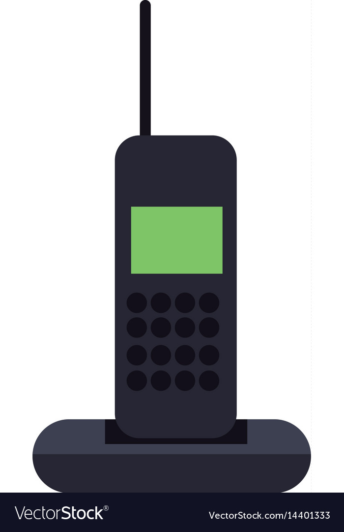 Cordless phone communication device vector image