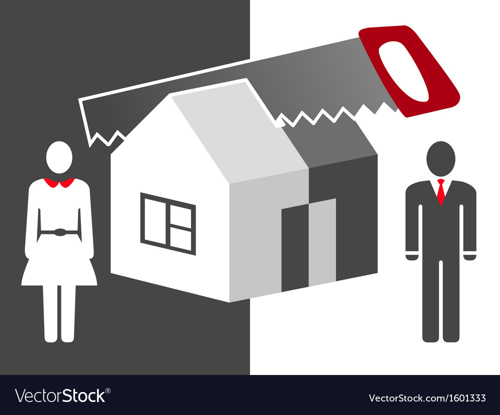 Illuctration about division of property vector image