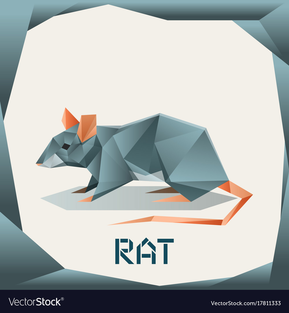 Origami grey rat royalty free vector image vectorstock origami grey rat vector image jeuxipadfo Images