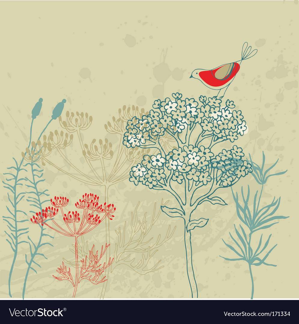 Bird garden vector image