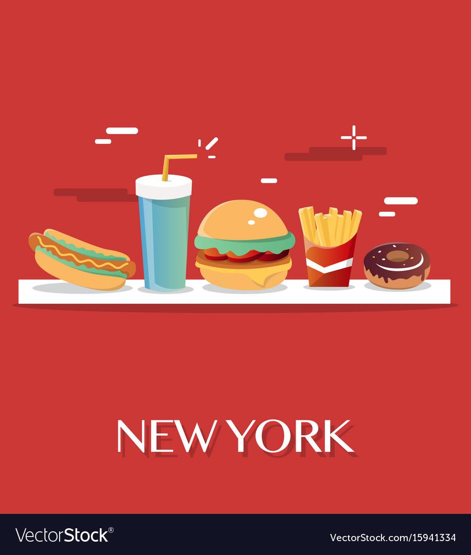 New york food vector image
