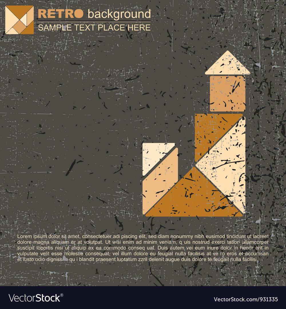 Tangram house vector image