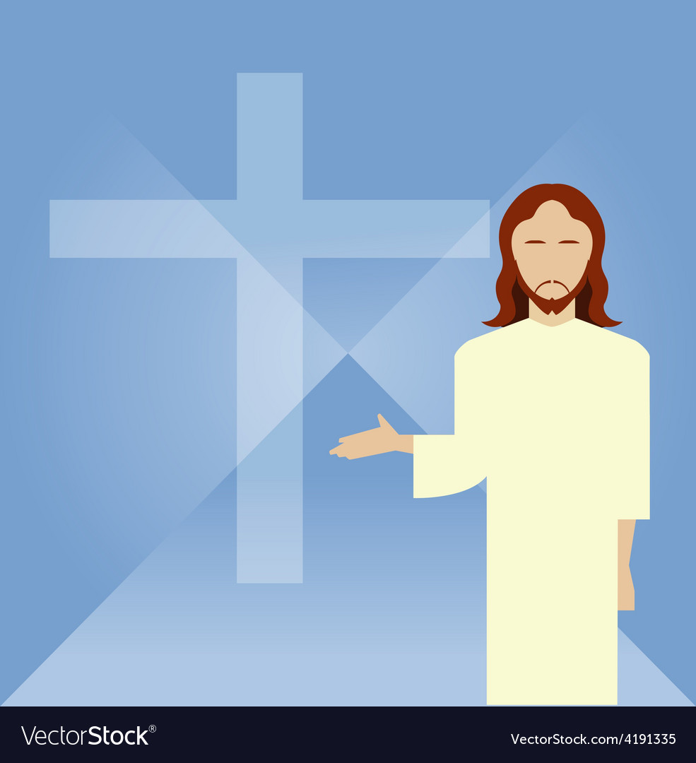 Flat icon Jesus2 vector image