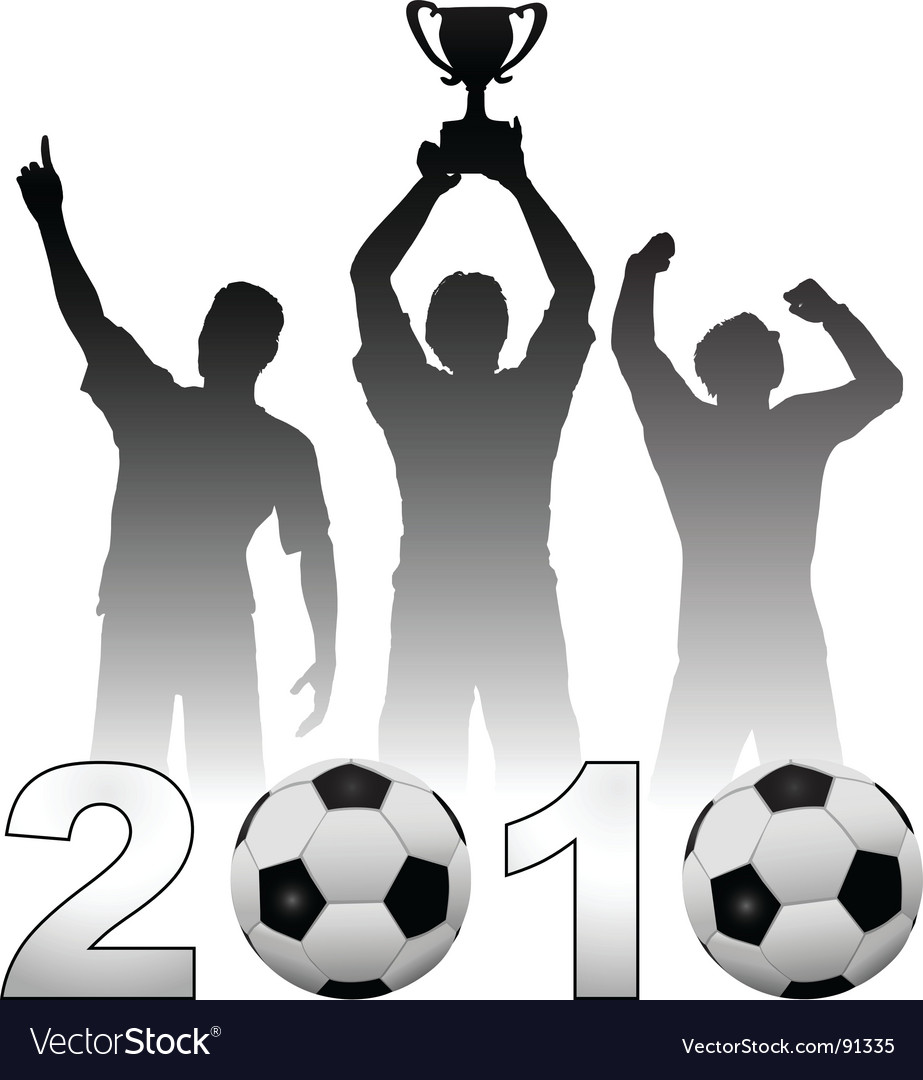 Football players vector image