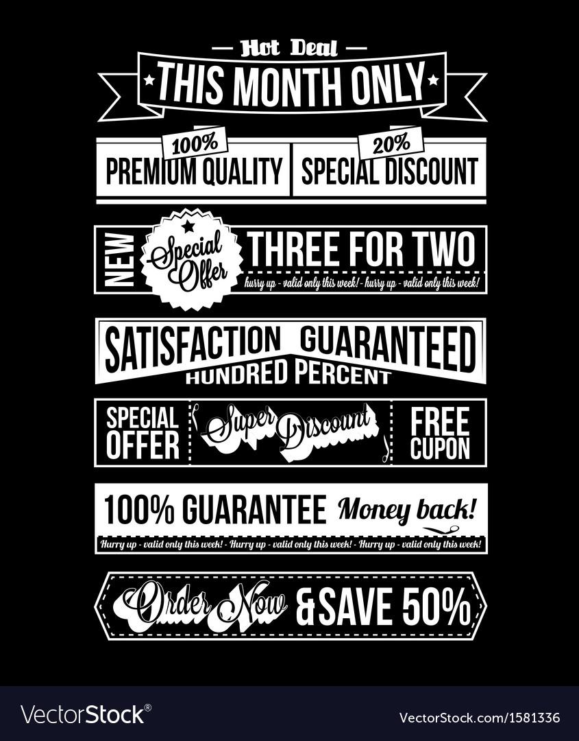 Vintage Typographic Business Banner Design vector image
