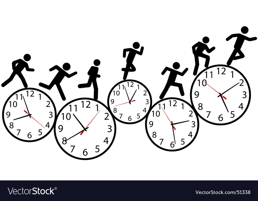Hurry illustration vector image