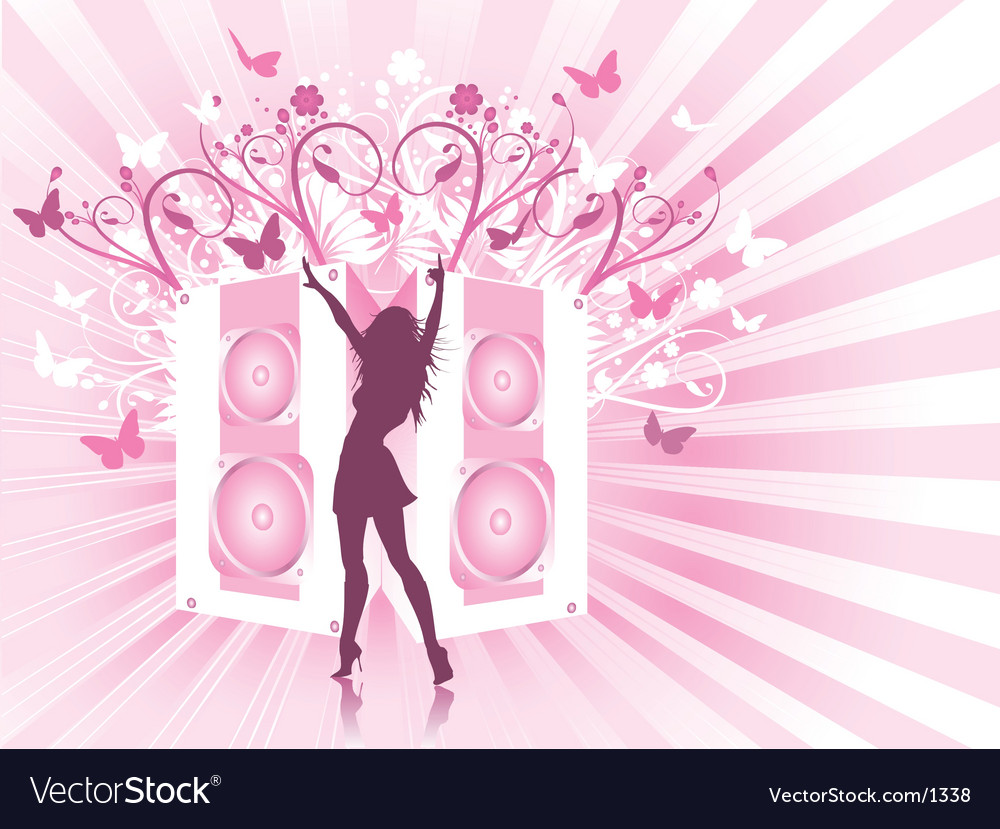 Disco females vector image
